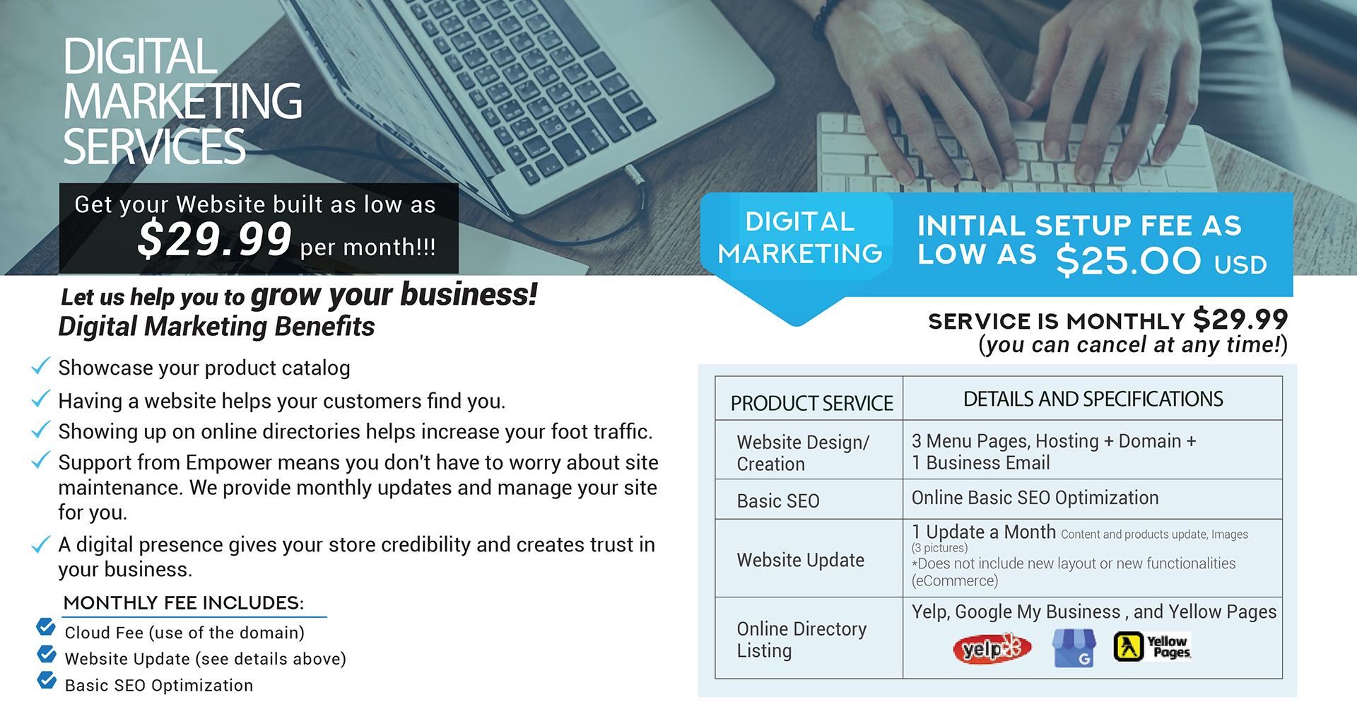 Empower Retailer Solutions Wireless Dealer Digital Marketing Services