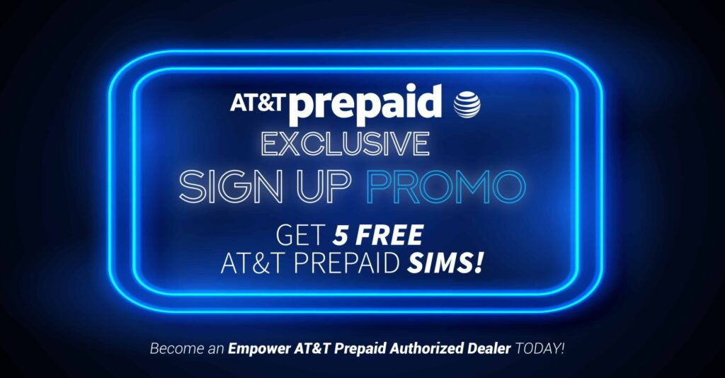 AT&T Sign up promo 5 free sims